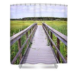 Salt Marsh Boardwalk Shower Curtain