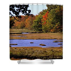 Salt Marsh River Shower Curtain