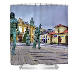 Shower Curtain featuring the photograph Salt Miners Of Wieliczka, Poland by Juli Scalzi
