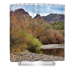 Salt River Pebble Beach Shower Curtain