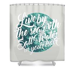 Salt Water Shower Curtain by Uma Gokhale