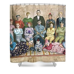 Saltimbanques Shower Curtain