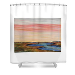 Saltpond Walk Shower Curtain