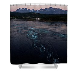 Saltstraumen, Magic Power Stream Shower Curtain by Tamara Sushko