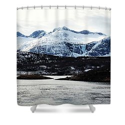 Saltstraumen Shower Curtain by Tamara Sushko