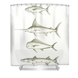 Saltwater Gamefishes Shower Curtain