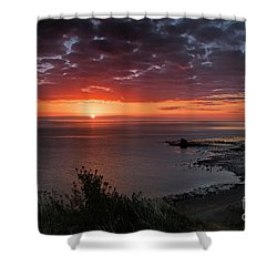 Saltwick Bay Sunrise  Shower Curtain