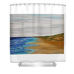Salty Morning Shower Curtain
