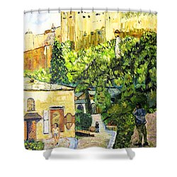 Saltzburg Shower Curtain by Michael Daniels