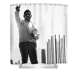 Shower Curtain featuring the photograph Saludo Ako Sayo by Jez C Self
