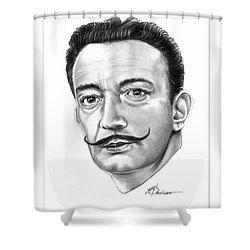 Salvador Dali Shower Curtain by Murphy Elliott