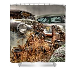 Salvage Time Shower Curtain