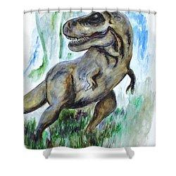 Salvatori Dinosaur Shower Curtain