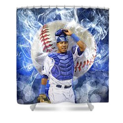 Salvy The Mvp Shower Curtain by Colleen Taylor
