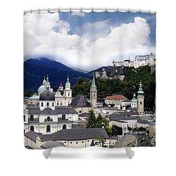 Salzburg - City Of Music Shower Curtain