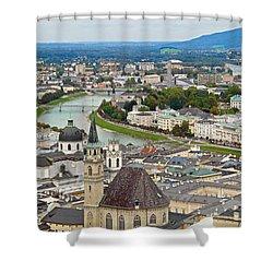 Salzburg From Hohensalzburg Castle Shower Curtain