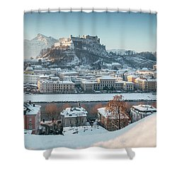 Salzburg Winter Morning Shower Curtain