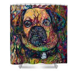 Sam The Dog Shower Curtain