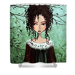 Samantha's Chocolate Tree Shower Curtain by Debbie Horton
