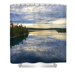 Sambro Basin I Nova Scotia Shower Curtain by Heather Vopni