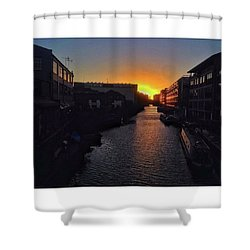 Same Sunset, New Point Of Shower Curtain by Tai Lacroix