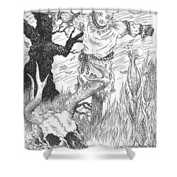 Samhain Shower Curtain
