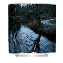 Sammamish River At Dusk Shower Curtain