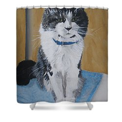 Shower Curtain featuring the painting Sammy by Betty-Anne McDonald