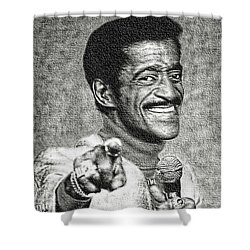 Sammy Davis Jr - Entertainer Shower Curtain by Ian Gledhill