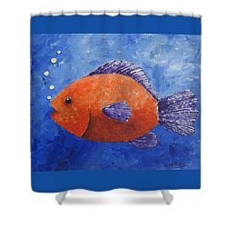 Sammy Shower Curtain by Suzanne Theis