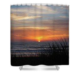 Samoa Dunes Sunset Shower Curtain