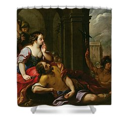 Samson And Delilah Shower Curtain by Giuseppe Nuvolone