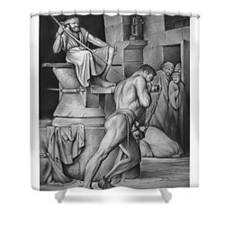 Samson Shower Curtain by Greg Joens