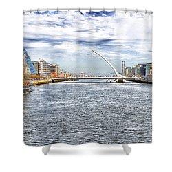 Samuel Beckett Bridge Shower Curtain