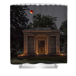 Samuel D. Nicholson Mausoleum Under The Blood Moon Shower Curtain