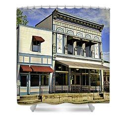 Samuel Hackmann Building Shower Curtain by Cricket Hackmann
