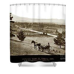 Samuel J. Duckworth Pauses To Look Upon What Would Become Carmel 1890 Shower Curtain