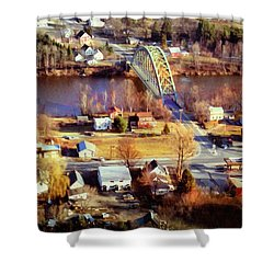Samuel Morley Bridge Fairlee Vt To Orford Nh Shower Curtain