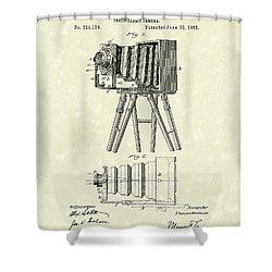 Samuels Photographic Camera 1885 Patent Art Shower Curtain