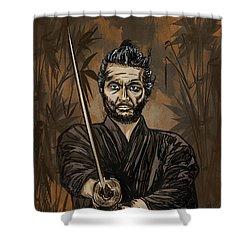 Samurai Warrior. Shower Curtain by Andrzej Szczerski