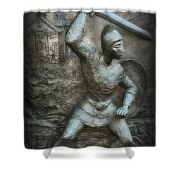 Samurai Warrior Shower Curtain by Bill Cannon