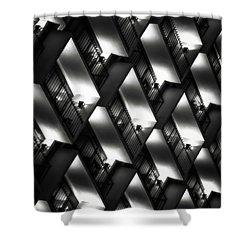 San Antonio At Night Shower Curtain by Eduard Moldoveanu