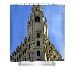 San Antonio Building 3 Shower Curtain