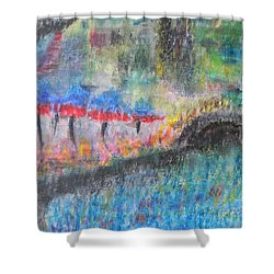 San Antonio By The River I Shower Curtain