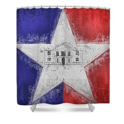Shower Curtain featuring the digital art San Antonio City Flag by JC Findley