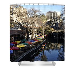 San Antonio River Walk Shower Curtain