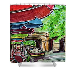 San Antonio River Walk Cafe Shower Curtain