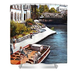 San Antonio River Walk Shower Curtain by M Diane Bonaparte