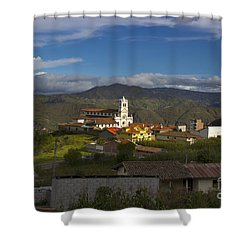 San Bartolomeo Is Famous For It's Guitars Shower Curtain