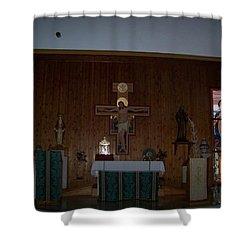 San Bernardo Abad,la Virgen Milagrosa Shower Curtain